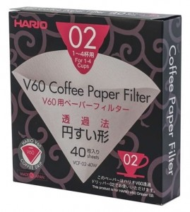 FILTRY PAPIEROWE DO DRIPPERA V60-02 (40 szt.) - HARIO